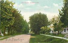 Plymouth Wisconsin~Reed Street Neighborhood~Homes~Dirt Road~1908 Postcard