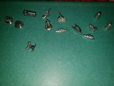 Monopoly Replacement Pewter Tokens  pieces Lot of 13