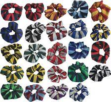 Junior School + High School Uniform Hair Tie Scrunchie  Equal Block Stripe