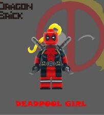 **NEW** DRAGON BRICK Custom Deadpool Girl Lego Minifigure