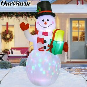 5ft Christmas Inflatable Snowman w/ LED Light Air Blown Lawn Yard Outdoor Decor