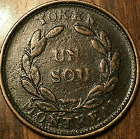 LOWER CANADA MONTREAL TOKEN BOUQUET UN SOU