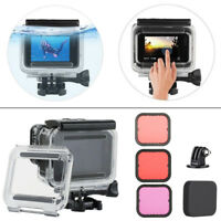 Black 45M Underwater Waterproof Housing Case + Dive Filter Kit for GoPro Hero5 6