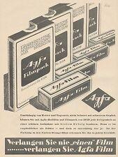 J1490 AGFA Filmpack - Pubblicità grande formato - 1929 Old advertising