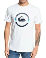 QUIKSILVER MENS T SHIRT.SNAKE DREAMS WHITE SHORT SLEEVED COTTON TOP TEE 9W 81 WB