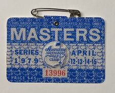 1979 Masters Tournament Augusta National Golf Club Badge Ticket Fuzzy Zoeller
