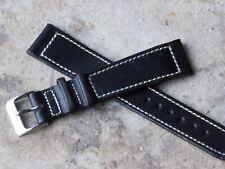 Supple vintage Genuine Calf 19mm box stitched old type watch strap 1940s/50s NOS