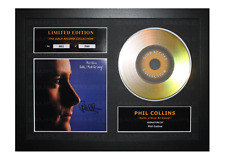 More details for phil collins signed gold disc album ltd edition framed picture memorabilia