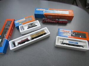Roco Zug-Set, Dampflok BR 44-142/43263, 4 x Güterwagen,meist Ovp, guter Zustand