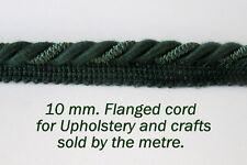 Verde oscuro Tapicería Con Bridas Cable (se vende por el MTR) de 10mm de ancho