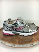 Saucony Womens Grid Stratos 5 Running Sneaker Shoes Silver Pink 25190-1 Size 9