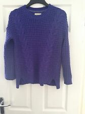 Ladies small blue cable jumper size 8/10