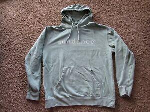 Sundance Long Sleeve Logo Mint Green Hoodie Pull Over Women's Size L