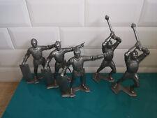 0105181 Figurine soldat plastique Lot moyen âge ancien chevalier Marx louis 15cm