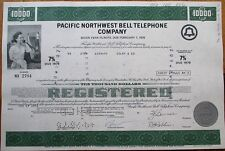 Pacbell/Pacific Northwest Bell Telephone 1970 Bond/Stock Certificates-100 PIECES