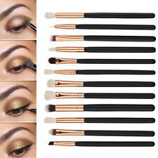 12pcs Pinceles Maquillaje de Sombra Ojos Polvo Cepillo Brochas Kit Cosmético Set