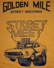 VTG Golden Mile Street Machines Car Club (IL) Street Meet 1982 50/50 T-Shirt XL