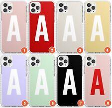 Custom Solid Colour Monogram Design Impact Phone Case for iPhone | Personalised