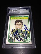 Dino Ciccarelli Signed 1982-83 O-Pee-Chee OPC Card PSA Slabbed #83426966