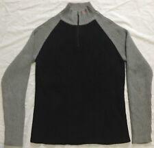 U10 New RALPH LAUREN POLO 1/4 Zip Black Sweater MEN'S Medium M