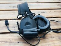 Z Tactical Comtac II Military Style Headset with Noise Cancelling - Z041 BLACK