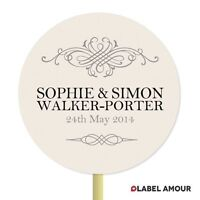 ❤ 20 PERSONALISED Cup Cake Toppers | Wedding Names | Cupcake Decoration ❤