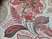 Ashley Wilde Naples In Pomegranate Designer Curtain Fabric By The Metre