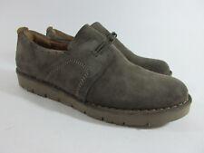 Clarks Un.Ava Shoes Women's Size 7 M Khaki Cow Suede Slip-on Sneakers