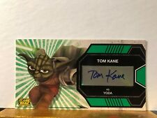 Tom Kane as Yoda Star Wars Clone Wars Widevision Autograph Card Topps