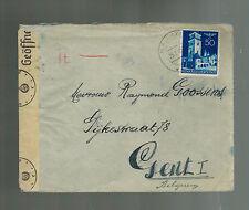 1942 Krakow Poland Germany Ghetto Censored Cover to Belgium Raymond Goossens