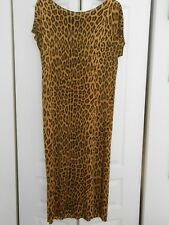 """LEOPARD PRINT DRESS WITH 10"""" SLIT ON ONE SIDE"""
