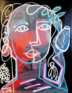 IMPRESSIONISM CUBIST PORTRAIT FINE ART COLLECTOR GALLERY HOME MODERNISM DECOR NR