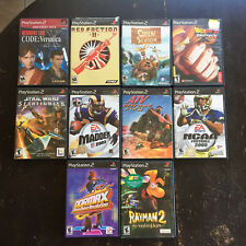 Playstation 2 PS2 Play Station 2  Lot of 10 Games Rayman 2 Red Faction 2 + READ