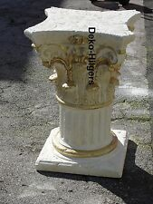 Säule Stuckgips Dekosäule Podest Tisch Möbel Säulen Deko Auf Alt 1629 Crem Gold