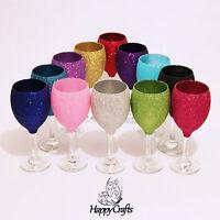 Glitter Top Wine Glass