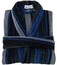 Bown of London, Men's Striped Velour Bathrobe, Eygptian Cotton, Unused
