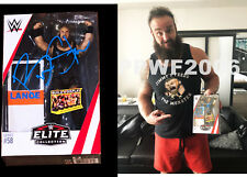 WWE BRAUN STROWMAN ELITE 58 HAND SIGNED ACTION FIGURE WITH PICTURE PROOF AND COA