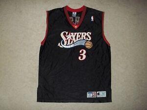 VTG Rare Champion sewn Allen Iverson Philadelphia 76ers Sixers sz 52 2XL Jersey