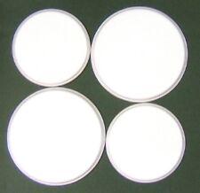 "New Set x 4 "" White ""  Enamel Electric Oven Hob Covers - 2 x 16cm & 2 x 20cm"