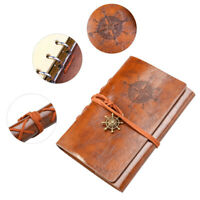 Retro Leather Notepad Notebook Diary Classic Vintage Travel Journal Notebook