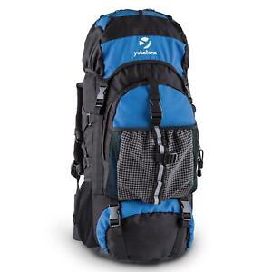 Zaino Borsone Grosso Capiente Viaggio Escursione Trekking Montagna Alpinismo Blu