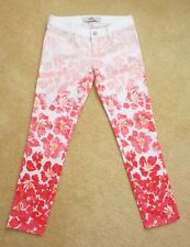 NEW Hollister Womens Floral Skinny Cropped Jeans Size 1 Ombre Jeggings Pants