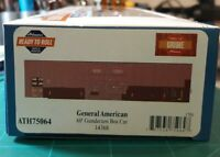 HO SCALE ATHEARN RTR 60' GUNDERSON BOX CAR ATH75064 NEW 14368 GENERAL AMERICAN