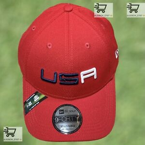 2020 Ryder Cup Sunday USA America Red Golf Adjustable Hat New Era ⛳️ Whistling