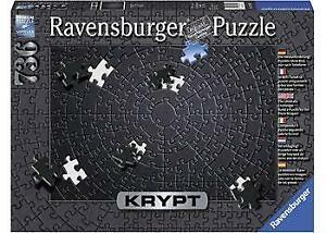 Ravensburger KRYPT Black Puzzle 736pc