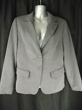 BNWT Ladies Share Sz 10 Grey Stretch Long Sleeve Lined Blazer Jacket RRP $135
