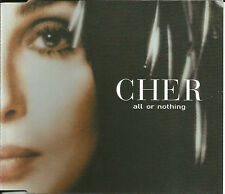 CHER w/ K KLASS All or Nothing  4TRX 2MIXES &EDIT UK CD Single USA Seller SEALED
