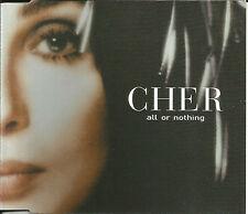CHER w/ K KLASS All or Nothing  4TRX 2MIXES &EDIT UK CD Single USA Seller SEALED