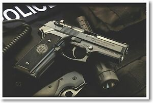 Police Weapon - Hand Gun NEW POSTER