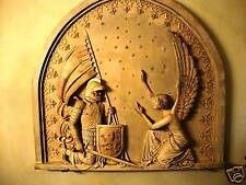 Joan of Arc stone sculpture wall plaque home decor replica tile
